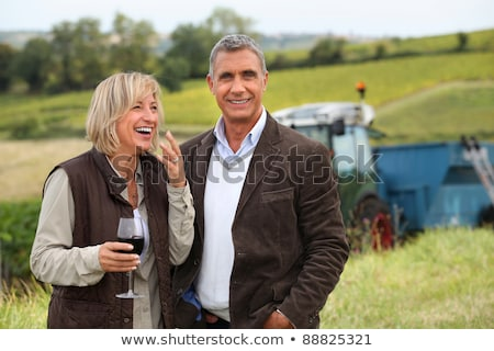 wine producers laughing in the vines Stock photo © photography33