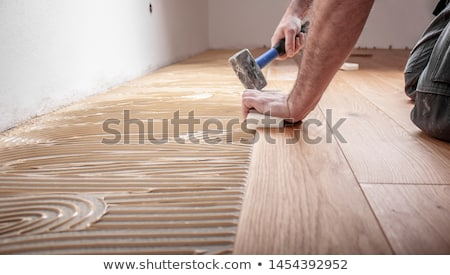 man laying parquet floor stock photo © photography33