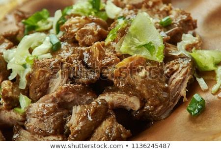cocido · cerdo · listo · tacos - foto stock © bendicks