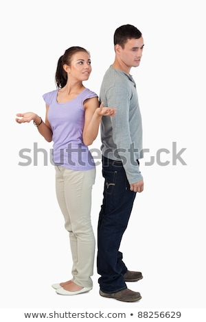 young couple experiencing relationship problems against a white background stock photo © wavebreak_media