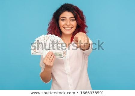 Ceny złodziej wskazując pistolet wymagający sexy Zdjęcia stock © jarp17