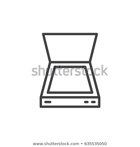 Vektor ikon szkenner számítógép Stock fotó © zzve