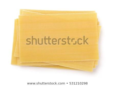 nyers · lasagna · közelkép · makró · senki · konyha - stock fotó © saddako2