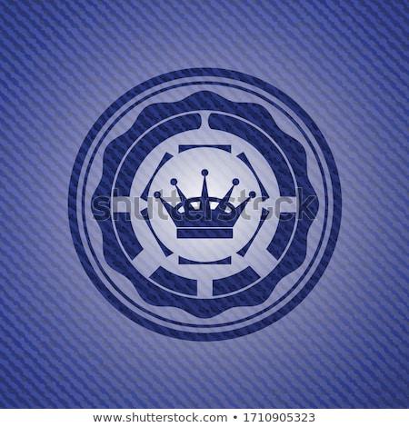Denim Fabric Texture - Imperial Blue stock photo © eldadcarin
