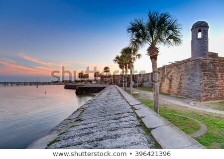 古代 砦 フロリダ 建物 海 セキュリティ ストックフォト © meinzahn