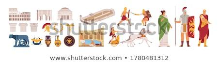 Man in chariot. Stock photo © kyolshin