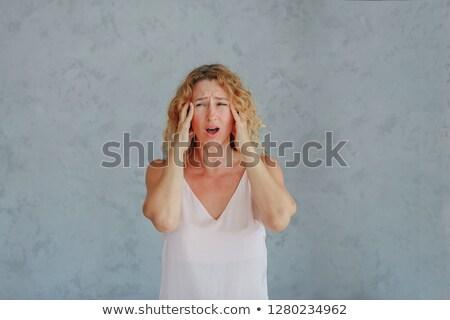 Hot flash pracy kobieta biuro książki Zdjęcia stock © cteconsulting