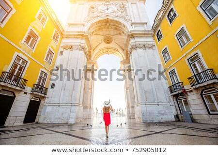 Arco Lisboa comércio praça centro da cidade distrito Foto stock © fxegs