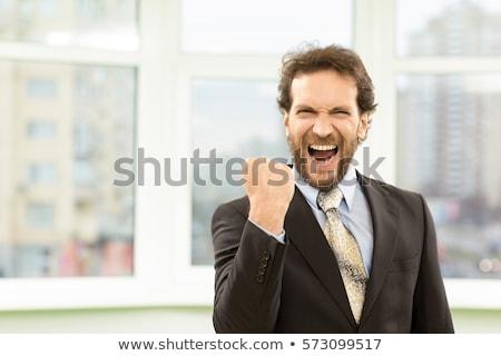 mature businessman shouting stock photo © wavebreak_media