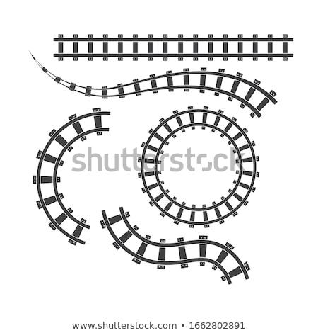 Foto stock: Ferrocarril · líneas · metálico · perspectiva