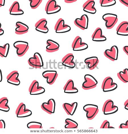 Szívek végtelenített tapéta csempe romantikus Valentin nap Stock fotó © kittasgraphics