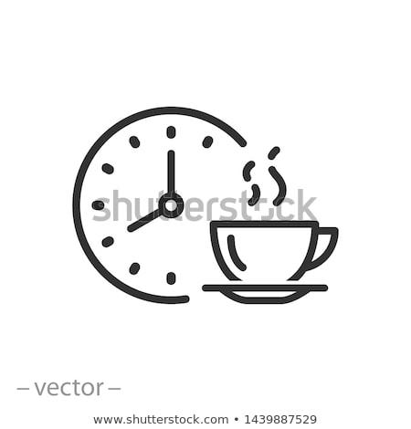 zwart · wit · pot · illustratie · ontwerp · rook · zwart · en · wit - stockfoto © beaubelle