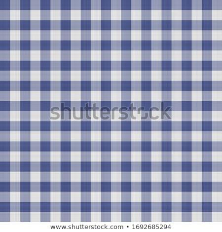Blue checked pattern paper Stock photo © DoraKatona