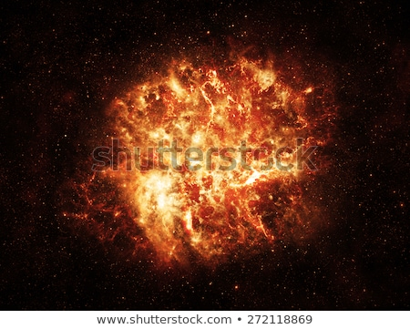 Enfer explosion espace ordinateur ciel monde Photo stock © almir1968