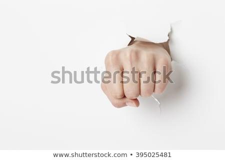 Görmek yumruk afiş Şili el Stok fotoğraf © michaklootwijk