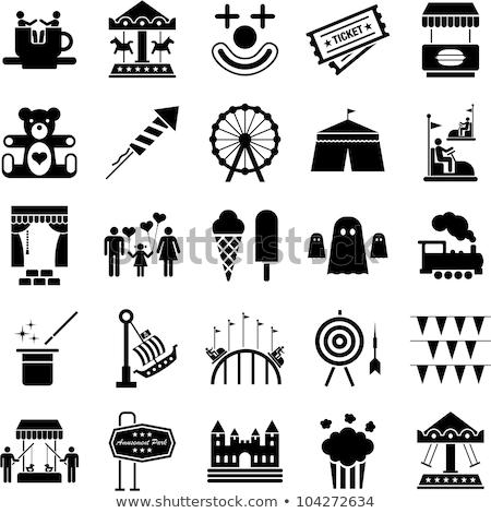 Vektor ikon vidámpark gyümölcs játék Stock fotó © zzve