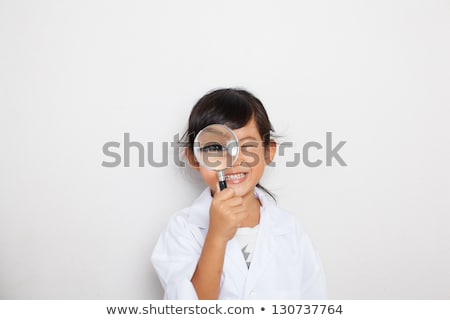 Young scientist having fun in lab. Stock photo © kasto