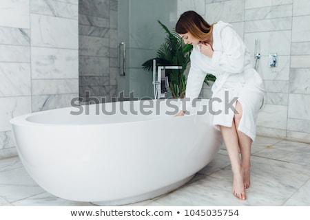 красивая · девушка · женщину · маске · ванную · природы · косметики - Сток-фото © anastasiya_popov