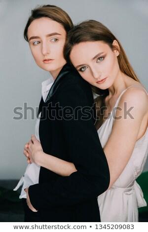 взрослый мужчины близнецы девушки студию Сток-фото © ivonnewierink
