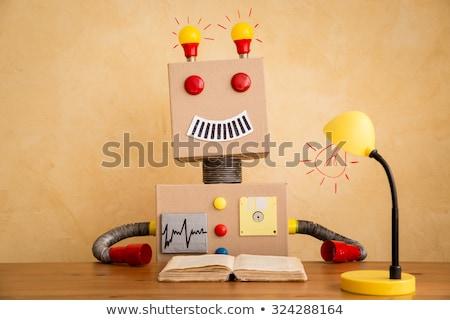 ロボット 図書 技術 孤立した 白 ビジネス ストックフォト © Kirill_M