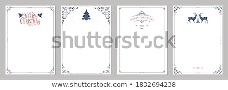 Stock photo: Christmas card with blank letter