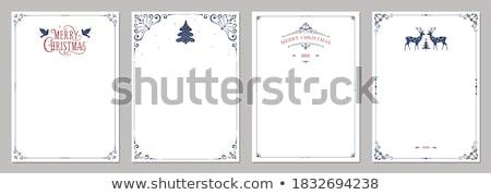 christmas · briefkaart · groene · Rood - stockfoto © ratselmeister