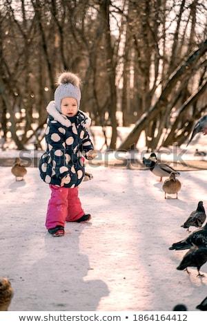 город девушки ходьбе женщины счастливым волос Сток-фото © Ansy