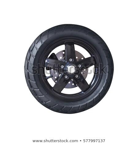 Stock photo: Motorcycle wheel and brake