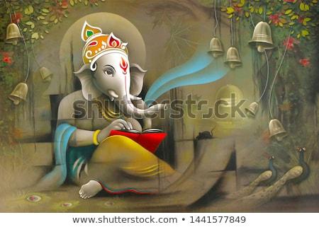 神 · ベクトル · 手描き · 実例 · テクスチャ · 幸せ - ストックフォト © akhilesh