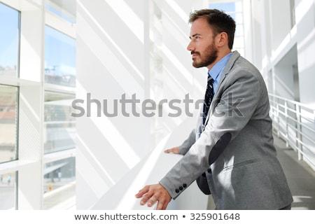 Empresario pensando retrato espacio de la copia adulto cara Foto stock © stevanovicigor