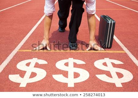 vencedor · negócio · batalha · determinado · homem · conselho - foto stock © lightsource