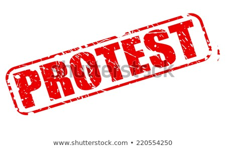 Protesto carimbo vetor tecnologia chave justiça Foto stock © burakowski