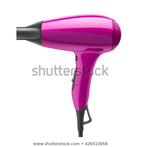 fashion hair dryer isolated on white stock photo © tetkoren