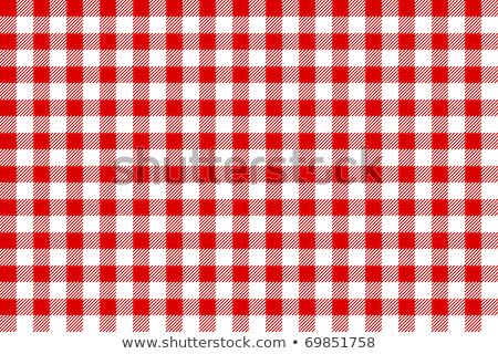 Kırmızı beyaz masa örtüsü doku duvar kağıdı İtalyan Stok fotoğraf © REDPIXEL