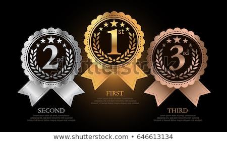 Első második díjak illusztráció arany siker Stock fotó © burakowski