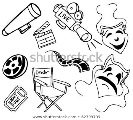 Movie Item Doodles Stock photo © cteconsulting