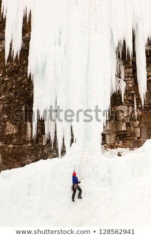 Upper Johnson Falls Ice Climber Stock photo © songbird