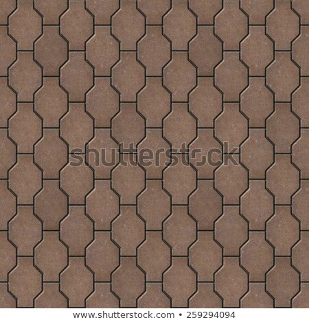 Wave Paving Slabs. Seamless Tileable Texture. Stock photo © tashatuvango
