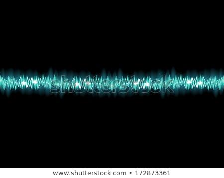 Seamless sound waves oscillating. EPS 10 Stock photo © beholdereye