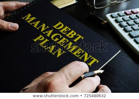 economic recovery   title of book finance concept stock photo © tashatuvango