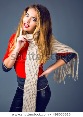 Beautiful woman in cashmere sweater portrait. Stock photo © Nejron