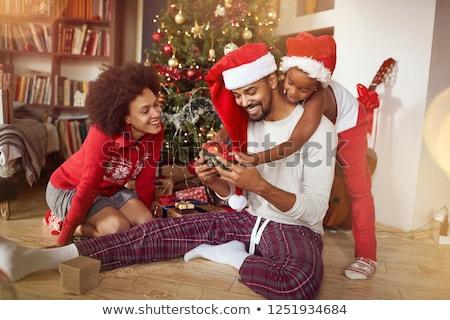 presentes · retrato · feliz · irmãos · natal · casa - foto stock © monkey_business