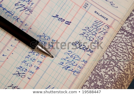 Handwritten numbers in ledger Stock photo © monkey_business