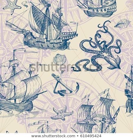 sketch octopus vector vintage seamless pattern stock photo © kali
