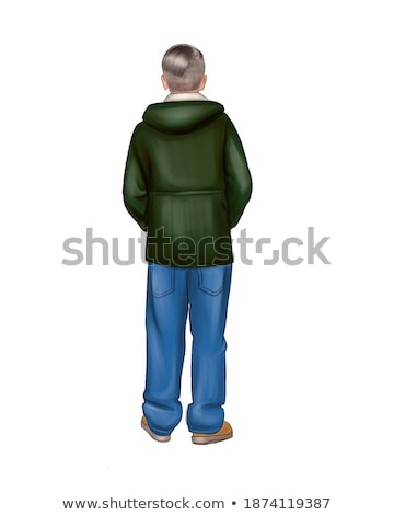 lad in jeans and jacket Stock photo © 26kot