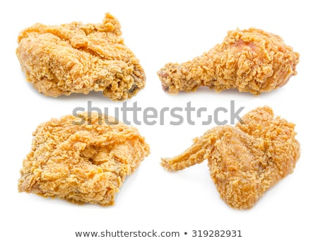 Knapperig gouden kip benen vleugels diep Stockfoto © juniart