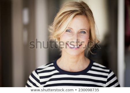 Stock photo: real blonde woman smiling