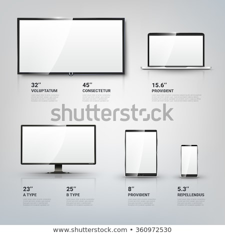 Modern blank flat screen TV set, isolated on white background Stock photo © simpson33