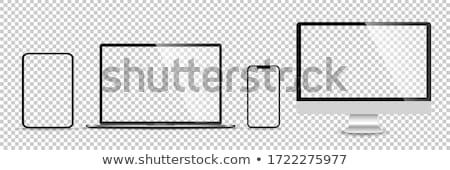 egyszerű · tv · modern · izolált · fehér · nem - stock fotó © montego