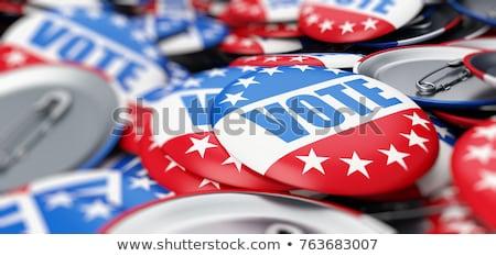 投票 投票 島々 フラグ ボックス 白 ストックフォト © OleksandrO